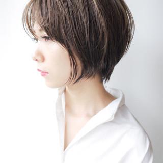 ゆるふわ ショートボブ ショート フェミニン ヘアスタイルや髪型の写真・画像
