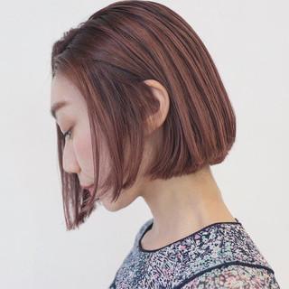 切りっぱなし ブリーチ ボブ リラックス ヘアスタイルや髪型の写真・画像 ヘアスタイルや髪型の写真・画像
