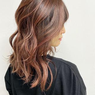 バレイヤージュ ハイライト 白髪染め グラデーションカラー ヘアスタイルや髪型の写真・画像