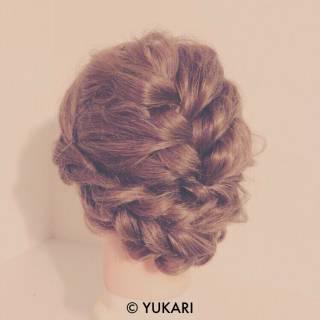 簡単ヘアアレンジ 結婚式 コンサバ アップスタイル ヘアスタイルや髪型の写真・画像