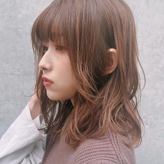 ミディアム 大人かわいい デジタルパーマ モテ髪 ヘアスタイルや髪型の写真・画像