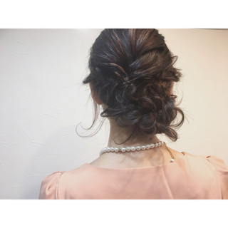 ショート ヘアアレンジ 三つ編み ゆるふわ ヘアスタイルや髪型の写真・画像