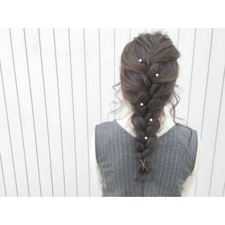 ショート 簡単ヘアアレンジ ロング 暗髪 ヘアスタイルや髪型の写真・画像