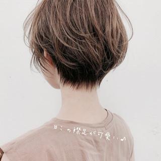 ミニボブ ナチュラル 小顔ショート ショート ヘアスタイルや髪型の写真・画像