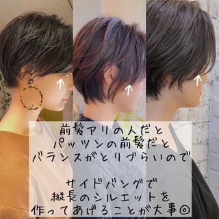 ショート ミニボブ 切りっぱなしボブ ショートボブ ヘアスタイルや髪型の写真・画像