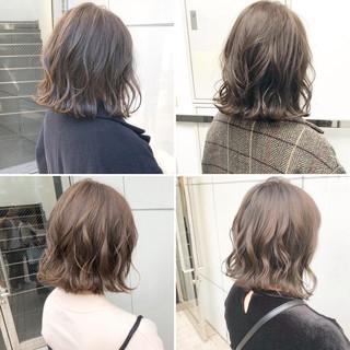 ヘアアレンジ ボブ ナチュラル 切りっぱなし ヘアスタイルや髪型の写真・画像