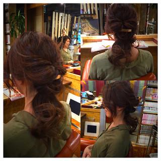 大人女子 ヘアアレンジ ロング かっこいい ヘアスタイルや髪型の写真・画像