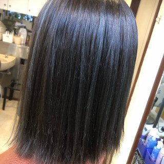 ミディアム 透明感 ブリーチ ロブ ヘアスタイルや髪型の写真・画像