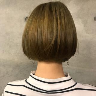 ハイライト ボブ ナチュラル ショート ヘアスタイルや髪型の写真・画像