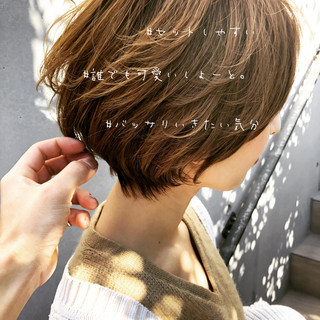 ミルクティーグレージュ 色気 ショート ナチュラル ヘアスタイルや髪型の写真・画像