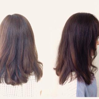 ミディアム 前髪あり フェミニン 大人かわいい ヘアスタイルや髪型の写真・画像