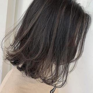 ナチュラル ボブ ショートボブ ハイライト ヘアスタイルや髪型の写真・画像