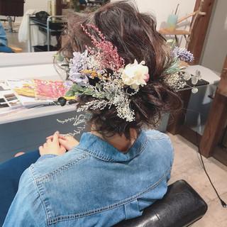 ヘアアレンジ ナチュラル 成人式 デート ヘアスタイルや髪型の写真・画像 ヘアスタイルや髪型の写真・画像