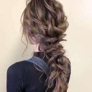 ゆるナチュラル セミロング フェミニン 大人かわいい ヘアスタイルや髪型の写真・画像
