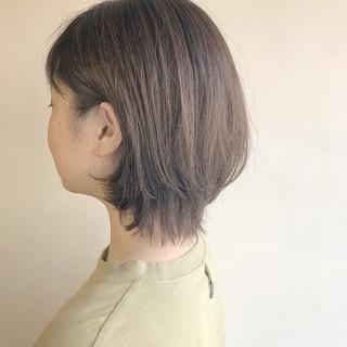 パーマ ショート 小顔ヘア ナチュラル ヘアスタイルや髪型の写真・画像