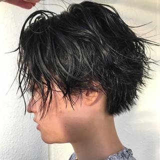 黒髪 ショート 大人女子 ヘアアレンジ ヘアスタイルや髪型の写真・画像