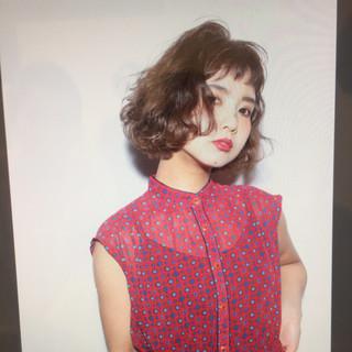 ゆるふわ ショートボブ フェミニン ナチュラル ヘアスタイルや髪型の写真・画像