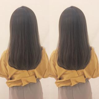 透明感 オフィス フェミニン グレージュ ヘアスタイルや髪型の写真・画像