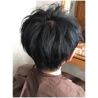 ネイビーブルー ブルーグラデーション ブルーブラック ブルーアッシュ ヘアスタイルや髪型の写真・画像