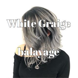 結婚式 バレイヤージュ 成人式 モード ヘアスタイルや髪型の写真・画像
