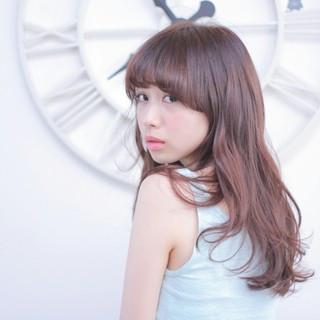 フェミニン ラベンダーアッシュ 大人かわいい ストレート ヘアスタイルや髪型の写真・画像