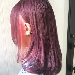 ガーリー ラズベリーピンク デート 冬 ヘアスタイルや髪型の写真・画像