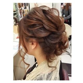 ガーリー デート 成人式 結婚式 ヘアスタイルや髪型の写真・画像