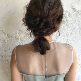 ロング ブライダル ナチュラル 結婚式 ヘアスタイルや髪型の写真・画像