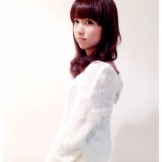モテ髪 ガーリー 秋 セミロング ヘアスタイルや髪型の写真・画像