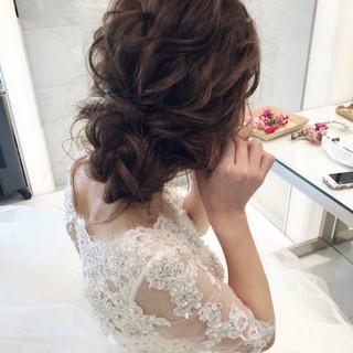 セミロング ヘアアレンジ フェミニン 大人かわいい ヘアスタイルや髪型の写真・画像
