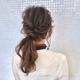 ロング 簡単ヘアアレンジ ウォーターフォール ナチュラル ヘアスタイルや髪型の写真・画像 ヘアスタイルや髪型の写真・画像