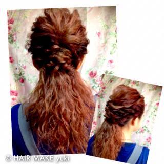 ヘアアレンジ 波ウェーブ ストリート 結婚式 ヘアスタイルや髪型の写真・画像 ヘアスタイルや髪型の写真・画像