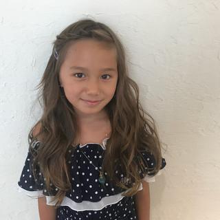 ガーリー 子供 ヘアアレンジ 簡単ヘアアレンジ ヘアスタイルや髪型の写真・画像