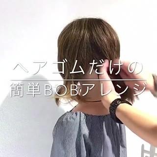 アウトドア フェミニン デート 簡単ヘアアレンジ ヘアスタイルや髪型の写真・画像