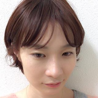 ショート  ふんわり 前髪あり ヘアスタイルや髪型の写真・画像 ヘアスタイルや髪型の写真・画像