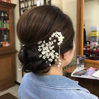 エレガント ロング 結婚式 上品 ヘアスタイルや髪型の写真・画像