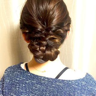 ロング 簡単 ショート 編み込み ヘアスタイルや髪型の写真・画像