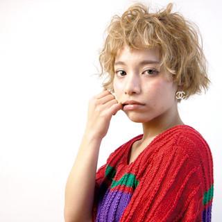 ウィッグ モード 外国人風 ショート ヘアスタイルや髪型の写真・画像