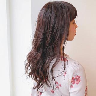 モテ髮シルエット セミロング アディクシーカラー デートヘア ヘアスタイルや髪型の写真・画像