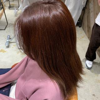 レッド モード グラデーションカラー ヘアカラー ヘアスタイルや髪型の写真・画像