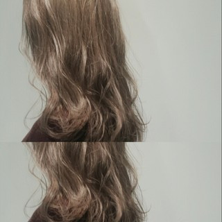 外国人風 ハイライト ブルージュ グレージュ ヘアスタイルや髪型の写真・画像