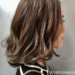 モード ハイライト 外国人風 ゆるふわ ヘアスタイルや髪型の写真・画像