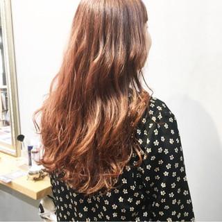オレンジベージュ ナチュラル オレンジ オレンジカラー ヘアスタイルや髪型の写真・画像