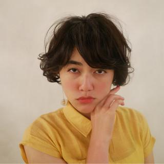 似合わせ 小顔 ショート ナチュラル ヘアスタイルや髪型の写真・画像