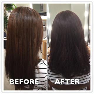 ブラウン ミディアム ストリート 暗髪 ヘアスタイルや髪型の写真・画像