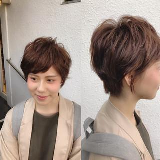 ショート 外国人風 ストリート パーマ ヘアスタイルや髪型の写真・画像