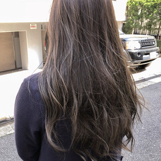 大人かわいい ウェーブ ロング ハイライト ヘアスタイルや髪型の写真・画像
