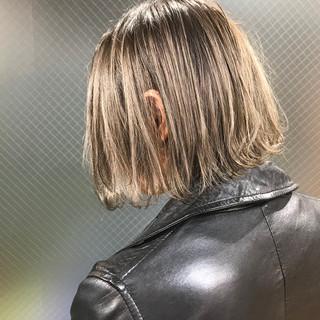 外国人風 ハイライト 外国人風カラー ナチュラル ヘアスタイルや髪型の写真・画像