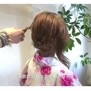 夏 デート 簡単ヘアアレンジ お祭り ヘアスタイルや髪型の写真・画像
