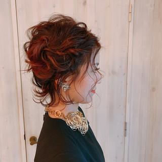 ヘアアレンジ ゆるナチュラル ボブ 結婚式ヘアアレンジ ヘアスタイルや髪型の写真・画像